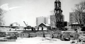 Строительство нового здания педагогического училища по ул. Островского. 1976 год. (НТГИА. Коллекция фотодокументов. Оп.1П. Д.811)