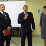 На открытии выставки С.М.Иванов, А.А.Капустин, О.Д,Опарина.