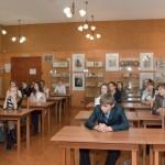 Учащиеся школы № 1 имени Н.К.Крупской  в читально-экспозиционном зале НТГИА