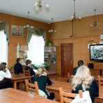 Демонстрация электронной выставки учащимся школы № 1 имени Н.К.Крупской