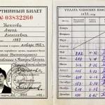Партийный билет № 03832260 члена КПСС Ушаковой Лилии Алексеевны. 25.05.1973 г. (НТГИА. Ф.669. Оп.1. Д.63)