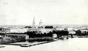 Тагильский Кремль. В центре Входо-Иерусалимский собор. Январь 1904 года.  (НТГИА. Коллекция фотодокументов. Оп.1П. Д.36)