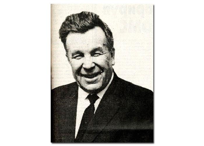 Иван Васильевич Окунев. (Портрет). [1950-е] годы. («Тагильский рабочий». - 1996 г. – 15 июня (№ 110). - С. 1.)