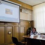 Т.А. Вязова, директор Нижнетагильского городского исторического архива, в конференц-зале администрации Горноуральского городского округа. 20.05.2016 года.