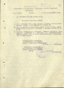 Решение исполнительного комитета Нижнетагильского городского Совета депутатов трудящихся от 3 августа 1966 года № 263. (НТГИА. Ф.70. Оп.2. Д.977. Л.124)