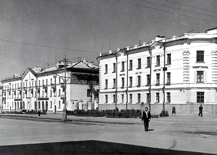 Улица Мира города Нижний Тагил. 1960-е годы. (Коллекция фотодокументов. Оп.1П. Д.1755)
