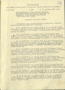 Решение исполнительного комитета Нижнетагильского городского Совета депутатов трудящихся от 31 декабря 1966 года № 436.(НТГИА. Ф.70. Оп.2. Д.978. Л.298)