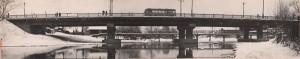 Общий вид моста через реку Тагил по улице Комсомольской-Фрунзе. 5 декабря 1965 года. Фото П. Желвакова. (НТГИА. Коллекция фотодокументов. Оп.1ФА. Д.43. Л.3об.)