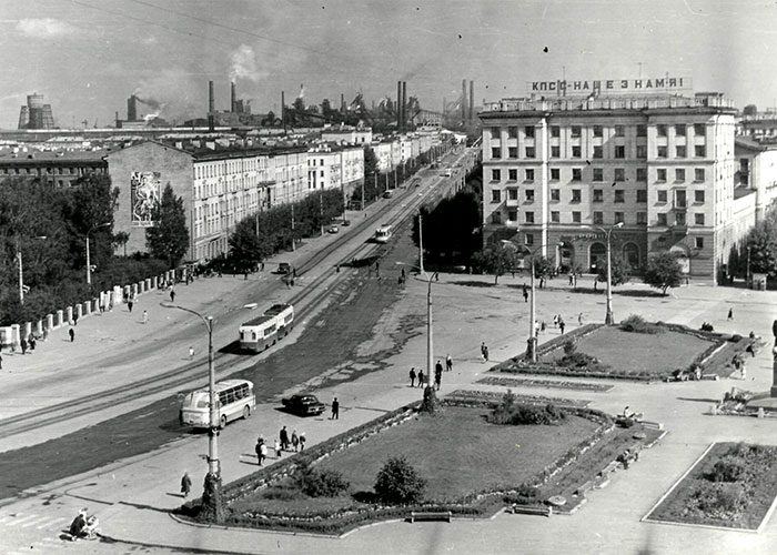 Вид на проспект Ленина в городе Нижний Тагил. 1960-е гг. (Коллекция фотодокументов. Оп.1П.Д.1429)