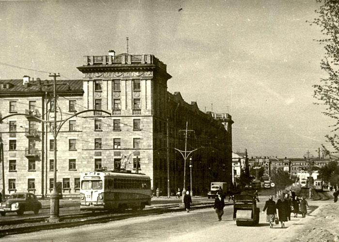 Вид улицы Ленина в 60-е годы. (НТГИА. Коллекция фотодокументов. Оп.1.ФА. Д.36.Л.27.Ф.1749)