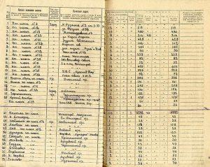 Регистрационные списки учебных заведений г. Нижний Тагил на 1 января 1933 год (НТГИА. Ф.128.Оп.1.Д.30.Лл.4(об.)-22(об.)