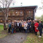 Участники заседания Совета по архивному делу у музея истории подносного промысла «Дом Худояровых»