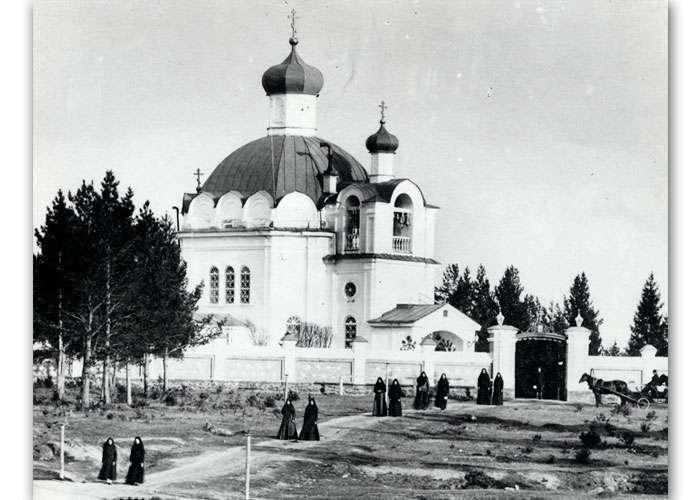 Скорбященский женский монастырь. Копия со снимка 1889 года. Автор. С.А. Александров. (НТГИА. Ф.557.Оп.2.Д.3.Л.50)