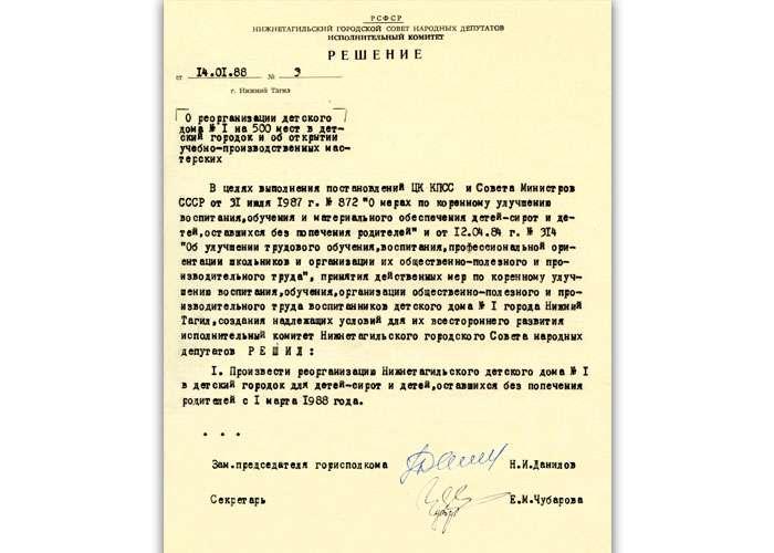 Решение исполкома Нижнетагильского городского Совета народных депутатов от 14 января 1988 года № 3 (НТГИА. Ф.70.Оп.2.Д.1932.Лл.20-21)