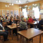 Участники творческого вечера Геннадия Георгиевича Азанова, в читально-экспозиционном зале НТГИА