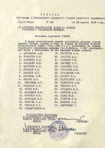 Решение исполнительного комитета Нижнетагильского городского Совета депутатов трудящихся от 26 апреля 1968 года № 143. (НТГИА. Ф.70.Оп.2.Д.1047.Л.63)