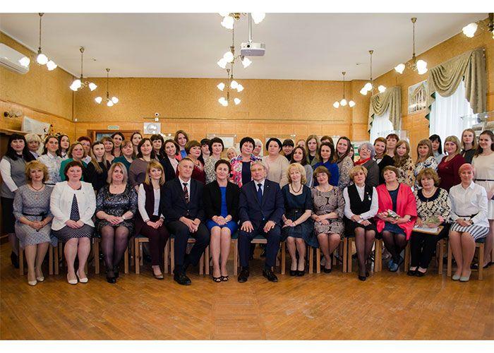 Участники торжественного совещания