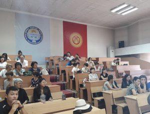 Представители архивной службы Кыргызской Республики на встрече с руководителями архивных учреждений Нижнего Тагила. 17 июля 2018 г.