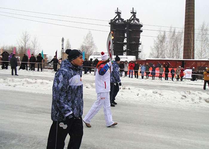 Эстафета Олимпийского огня. Декабрь 2013 года. Фото Е.Ю. Кожевниковой.