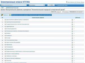 "Интерфейс АИС ""Электронные описи НТГИА"""