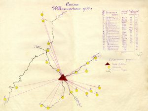 Схема Нижне-Тагильского уезда. (НТГИА. Ф.30.Оп.1.Д.207.Лл.61об-62)
