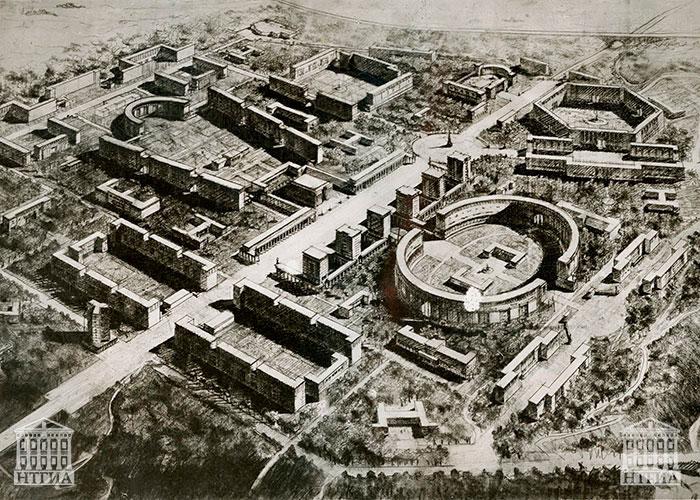 Эскизный проект застройки района Красный камень г.Нижний Тагил 1934 год. (НТГИА. Ф.69.Оп.1.Д.93.Л.11)