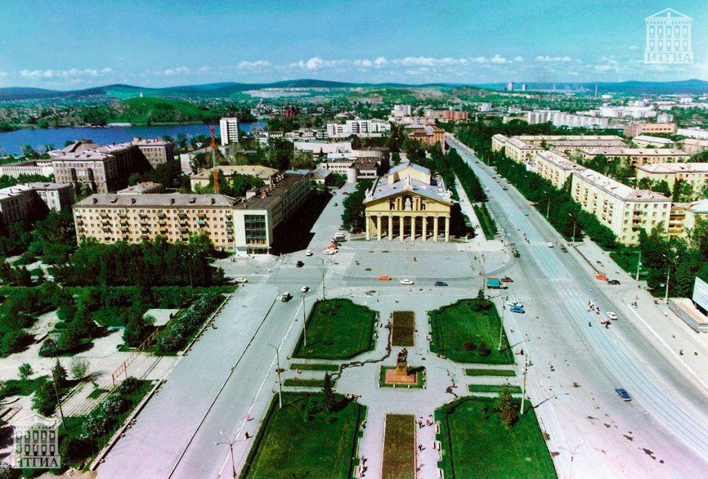 Общий вид центральной части города Нижний Тагил. 1990-е года. (НТГИА. Коллекция фотодокументов.Оп.1П.Д.2816)