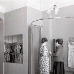 Интерьер отдела верхнего платья магазина «Женское готовое платье» по ул. Мира. 1962 г. (НТГИА. Коллекция фотодокументов. Оп.1Н1.Д.2493)