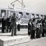 Церемония открытия трамвайного движения Красный Камень - Выя 15 августа 1981 г. (НТГИА. Коллекция фотодокументов.Оп.1Н1.Д.1754)