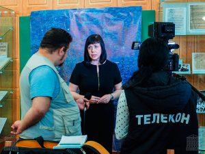 """В.Е. Лаврова, ведущий архивист НТГИА, во время интервью телекомпании """"Телекон"""". 20.08.2019 г."""