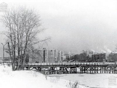 Мост по улице Красноармейской. 1991 год. (НТГИА. Коллекция фотодокументов.Оп.1ФА.Д.7.Л.14)