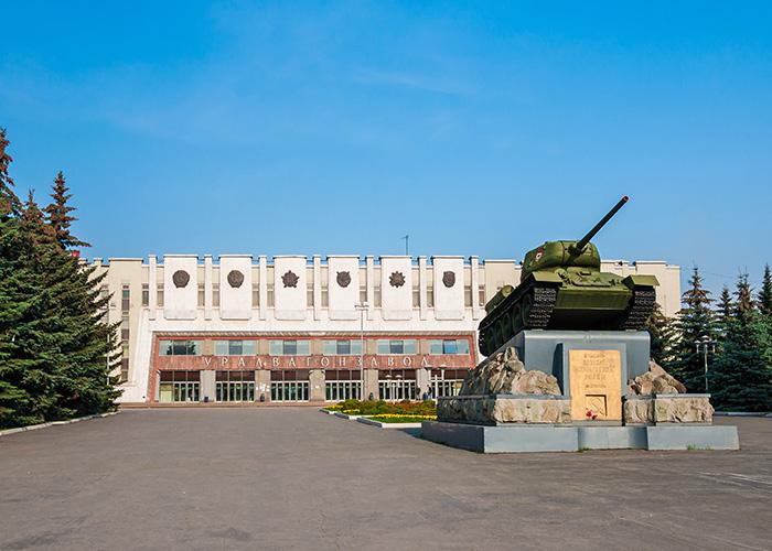 Главная проходная Уралвагонзавода. 2019 год. Фото А.В. Моленковой